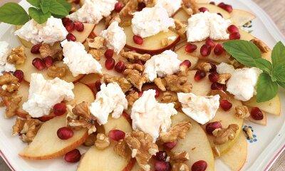 Apfel-Carpaccio mit Ziegenkäse und Walnüssen